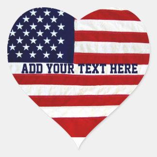 De Amerikaanse V.S. Flag_ Hart Sticker