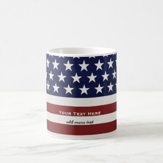 De Amerikaanse V.S. markeren de Patriottische 4 Koffiemok