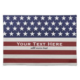 De Amerikaanse V.S. markeren de Patriottische 4 Placemat