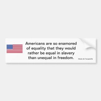 De Amerikaanse Verklaring van de Vrijheid Bumpersticker