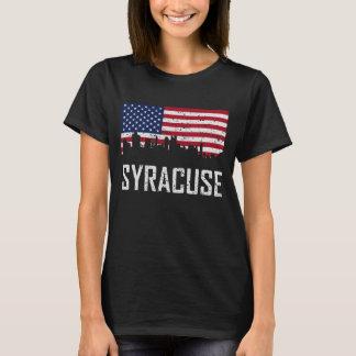 De Amerikaanse Verontruste Vlag van de Horizon van T Shirt
