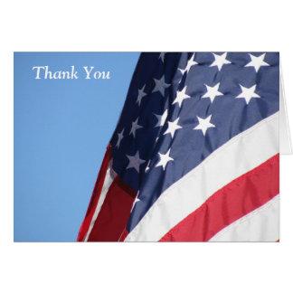 De Amerikaanse Vlag dankt u Wenskaart