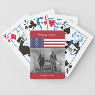 De Amerikaanse Vlag de V.S. van George Washington Poker Kaarten