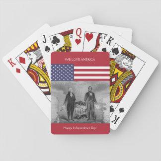 De Amerikaanse Vlag de V.S. van George Washington Pokerkaarten