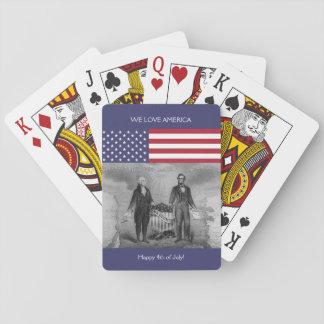 De Amerikaanse Vlag de V.S. van George Washington Speelkaarten