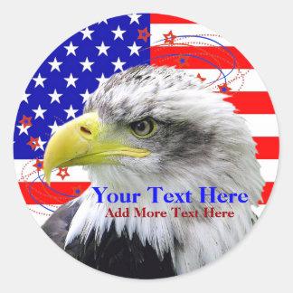 De Amerikaanse Vlag en Stickers van Eagle