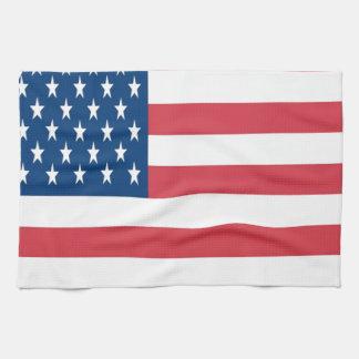 De Amerikaanse Vlag met Witte Sterren Theedoek