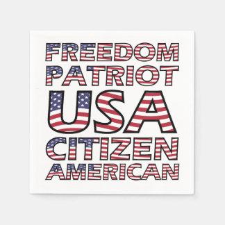 De Amerikaanse Vlag van de Burger van de V.S. van Papieren Servet