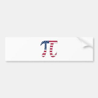 De Amerikaanse vlag van de Dag van pi, pisymbool Bumpersticker
