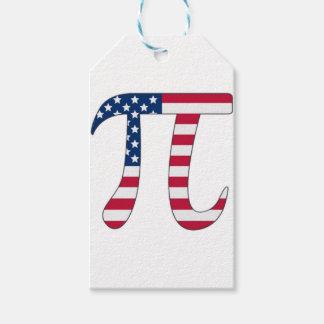 De Amerikaanse vlag van de Dag van pi, pisymbool Cadeaulabel