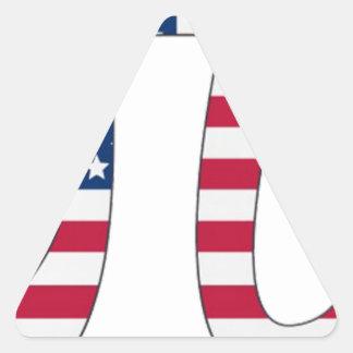 De Amerikaanse vlag van de Dag van pi, pisymbool Driehoek Stickers