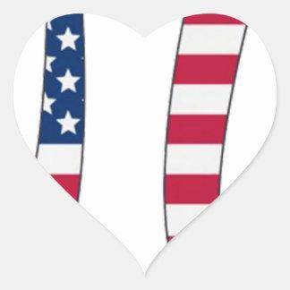 De Amerikaanse vlag van de Dag van pi, pisymbool Hartvormige Stickers