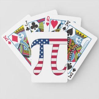 De Amerikaanse vlag van de Dag van pi, pisymbool Pak Kaarten