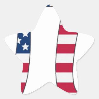 De Amerikaanse vlag van de Dag van pi, pisymbool Stervormige Stickers