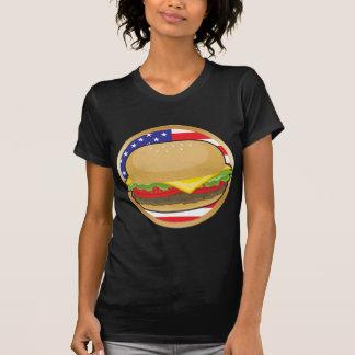 De Amerikaanse Vlag van de hamburger T Shirt