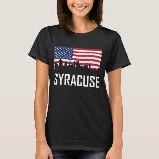 De Amerikaanse Vlag van de Horizon van Syracuse T Shirt
