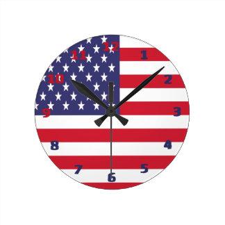 De Amerikaanse Vlag van de V.S. Ronde Klok