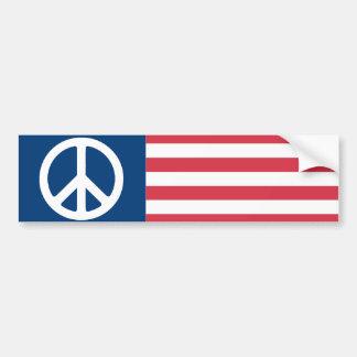 De Amerikaanse Vlag van de Vrede Bumpersticker