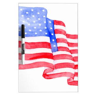 De Amerikaanse Vlag van de waterverf Whiteboards