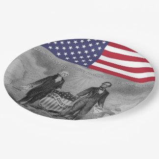 De Amerikaanse Vlag van George Washington Abraham Papieren Bordje