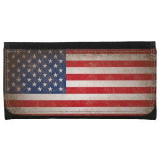 De Amerikaanse Vlag van het vintage Leer