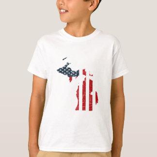De Amerikaanse Vlag van Michigan T Shirt