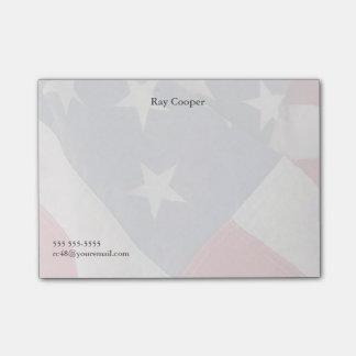 De Amerikaanse vlag verdwijnt langzaam Post-it® Notes