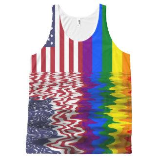 De Amerikaanse & Vrolijke Vlaggen van de Trots All-Over-Print Tank Top