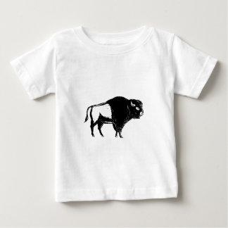 De Amerikaanse Zij Zwart-witte Houtdruk van Baby T Shirts