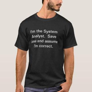 De Analist van het systeem T Shirt