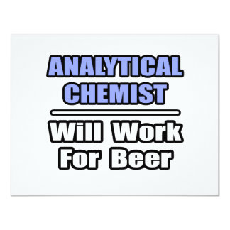 De analytische Chemicus zal… voor Bier werken 10,8x13,9 Uitnodiging Kaart