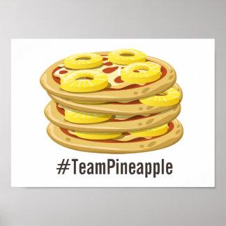 De ananas behoort op het Poster van de Pizza