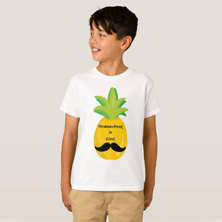 De ananas met Snor Homeschool is Koel T Shirt