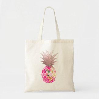 De Ananas van Aloha van PixDezines+Faux nam Goud Draagtas