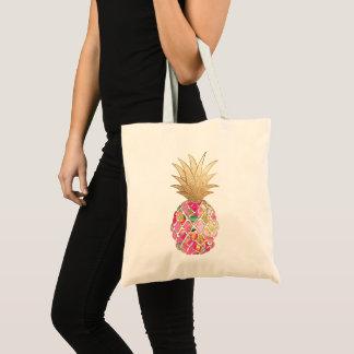 De Ananas van Aloha van PixDezines+Het Goud van Draagtas