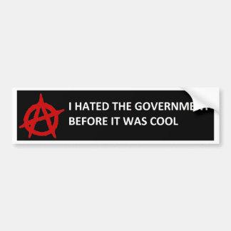 De anarchie deed eerst het bumpersticker