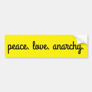 De Anarchie van de Liefde van de vrede: Zwart en Bumpersticker
