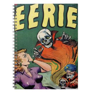 De angstaanjagende Retro Grappige Schrik van het Ringband Notitieboek