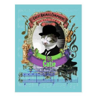 De Animal Composer Satie Parodie van Erik Catie Briefkaart