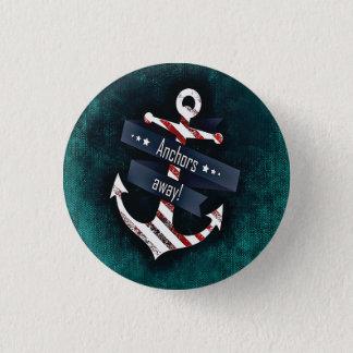 De ankers drukken weg Rood Wit ZeevaartAnker Ronde Button 3,2 Cm