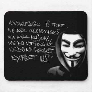 De anonieme Kennis is Vrije Mousepad Muismatten