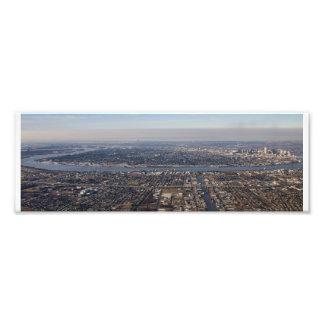De Antenne van New Orleans van Uptown Foto Afdruk