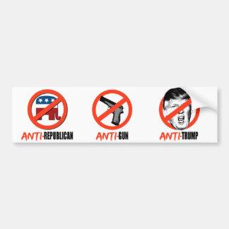 De anti-republikeinse anti-Troef van het Bumpersticker