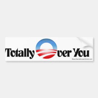 "De anti Sticker van de Bumper Obama ""totaal over u"