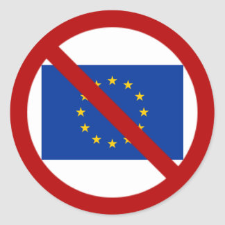De anti sticker van de EU