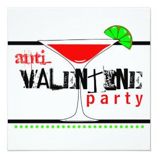 De anti-Valentijnse Cocktail Martini van de Partij Kaart