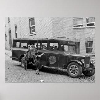 De antiek Bus van de School, jaren '30 Poster