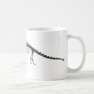 De Antiek Druk van de Dinosaurus van Diplodocus Koffiemok