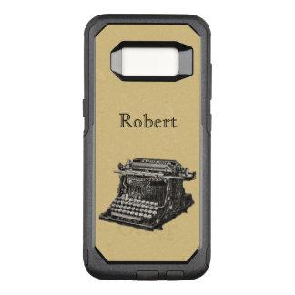 De antiek Illustratie van de Schrijfmachine in OtterBox Commuter Samsung Galaxy S8 Hoesje