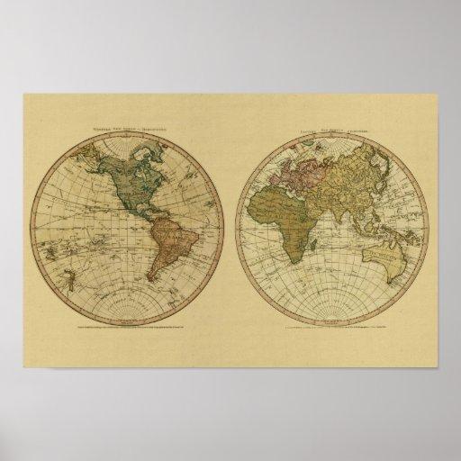 De antiek kaart van 1786 wereld door william faden zazzle for De pagter antiek interieur b v